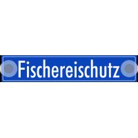 """Schilder """"Fischereischutz"""" (Blau)"""
