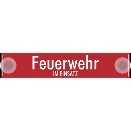 """Schilder """"Feuerwehr im einsatz"""""""