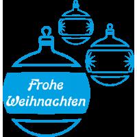 Weihnachtsdekorationsaufkleber (blaue Weihnachtskugeln)