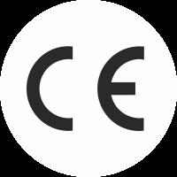 CE-Zeichen rund weiß