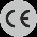 CE-Zeichen rund grau
