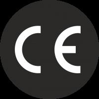 CE-Zeichen rund schwarz