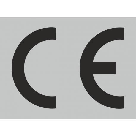 CE-Zeichen rechteckig grau