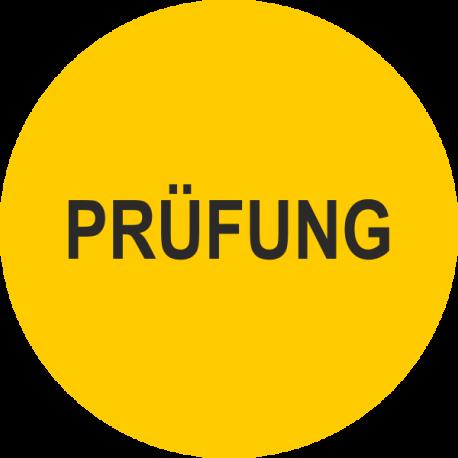 """Prüfplaketten mit dem Text """"Prüfung"""""""