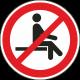 """Aufkleber """"Sitzen verboten"""""""