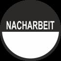 """Beschreibbare Prüfplaketten mit dem Text """"Nacharbeit"""""""