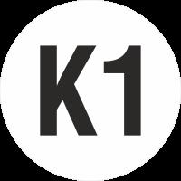 """Markierungsaufkleber """"Ortsveränderliche Betriebsmittel K1"""""""