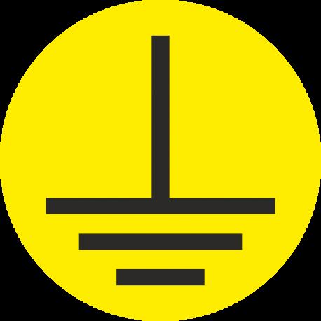"""Markierungsaufkleber """"Erde"""" (gelb)"""