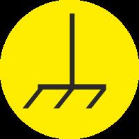 """Markierungsaufkleber """"Masse"""" (gelb)"""