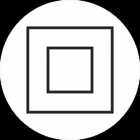 """Markierungsaufkleber """"Schutzisolierung Geräte der Schutzklasse 2"""" (weiß)"""