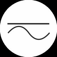 """Markierungsaufkleber """"Gleich- und Wechselstrom"""" (weiß)"""