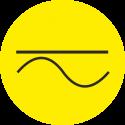 """Markierungsaufkleber """"Gleich- und Wechselstrom"""" (gelb)"""