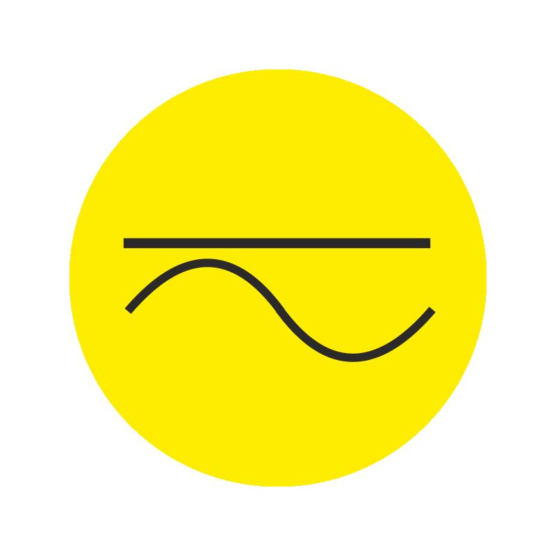 gleich und wechselstrom aufkleber gelb din en 60445. Black Bedroom Furniture Sets. Home Design Ideas