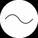 """Markierungsaufkleber """"Wechselstrom"""" (weiß)"""