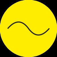 """Markierungsaufkleber """"Wechselstrom"""" (gelb)"""