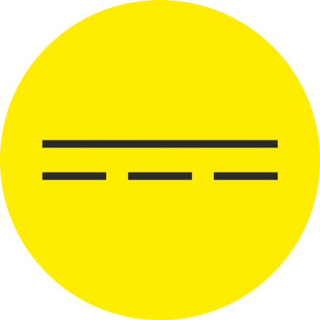 """Markierungsaufkleber """"Gleichstrom"""" (gelb)"""