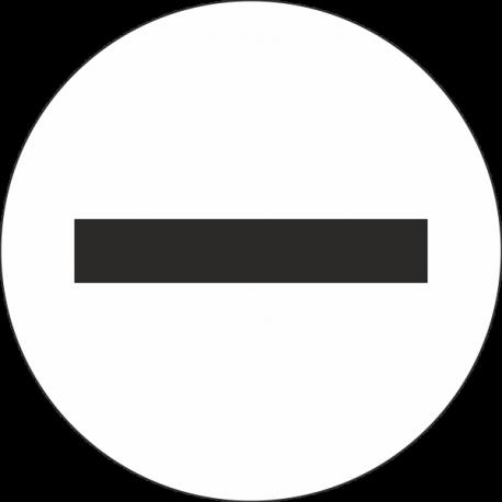 """Markierungsaufkleber """"Negativ"""" (weiß)"""