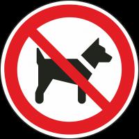 """Aufkleber """"Das mitführen von Hunden ist verboten"""""""