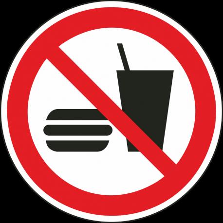 """Aufkleber """"Essen und Trinken verboten"""""""