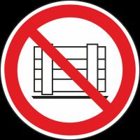 """Aufkleber """"Abstellen oder Lagern verboten"""""""
