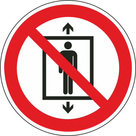 "Aufkleber ""Personenbeförderung verboten"""