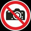 """Aufkleber """"Fotografieren verboten"""""""