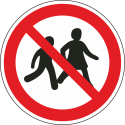 """Aufkleber """"Kinder verboten"""""""