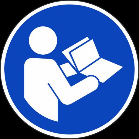 """Schilder """"Anleitung beachten"""""""