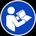 """Schilder """"Gebrauchsanweisung beachten"""""""