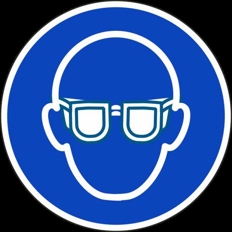 """Schilder """"Augenschutz benutzen"""""""