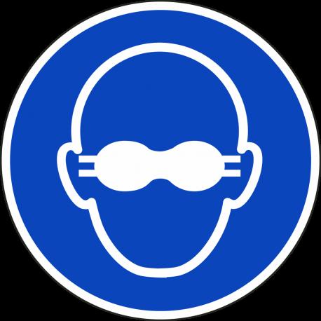 """Schilder """"Weitgehend lichtundurchlässigen Augenschutz benutzen"""""""