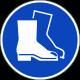 """Schilder """"Fußschutz benutzen"""""""