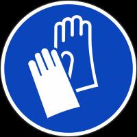 """Schilder """"Handschutz benutzen"""""""