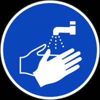 """Schilder """"Hände waschen"""""""