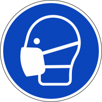 """Schilder """"Maske benutzen"""""""