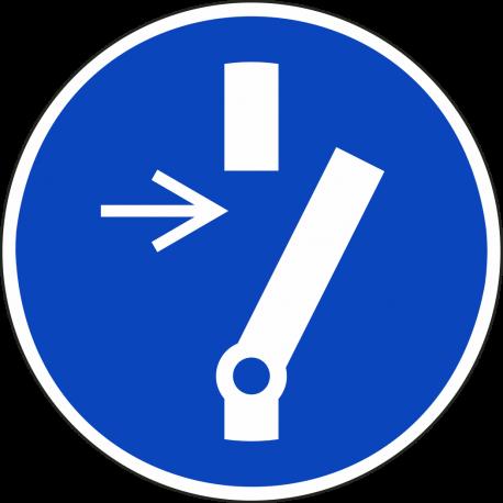 """Schilder """"vor Wartung oder Reparatur freischalten"""""""