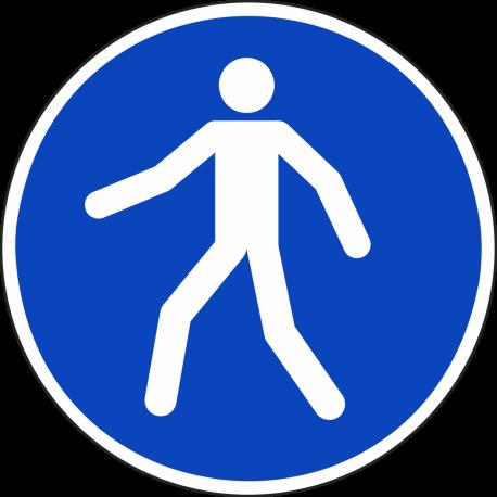"""Schilder """"Fußgängerweg benutzen"""""""