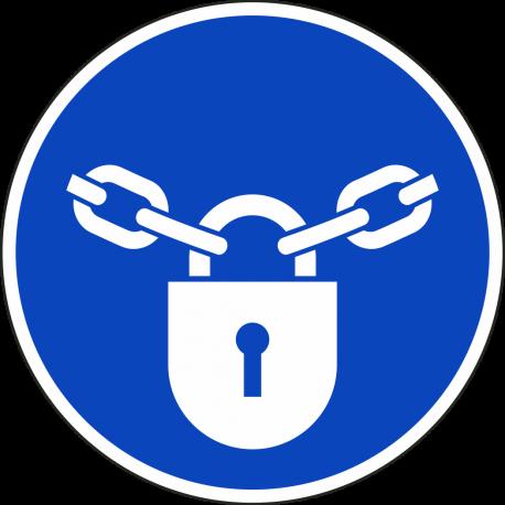 """Schilder """"Verschlossen halten"""""""