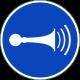 """Schilder """"Akustisches Signal geben"""""""