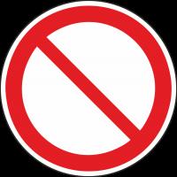 """Schilder """"Allgemeines Verbotszeichen"""""""