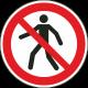 """Schilder """"Für Fußgänger verboten"""""""