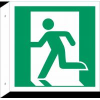 """Schilder """"Notausgang (links)"""" (rechtwinkliges Modell)"""