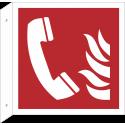 """Schilder """"Brandmeldetelefon"""" (rechtwinkliges Modell)"""