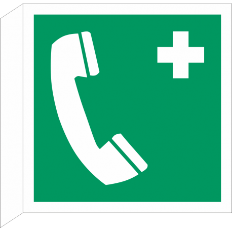 """Schilder """"Notruftelefon"""" (rechtwinkliges Modell)"""