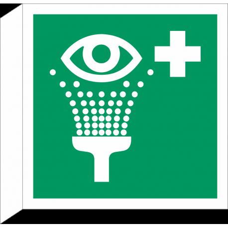 """Schilder """"Augenspüleinrichtung"""" (rechtwinkliges Modell)"""