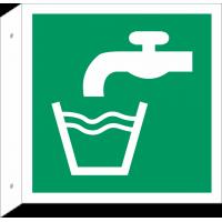 """Schilder """"Trinkwasser"""" (rechtwinkliges Modell)"""
