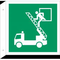 """Schilder """"Rettungsausstieg"""" (rechtwinkliges Modell)"""