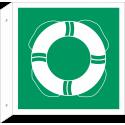 """Schilder """"Öffentliche Rettungsausrüstung"""" (rechtwinkliges Modell)"""