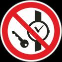 """Schilder """"Das Mitführen von Metallteilen oder Uhren verboten"""""""