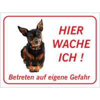 "Chihuahua ""Hier wache ich""-Schild (rot)"